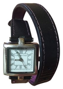 Coldwater Creek Leather wrap around watch