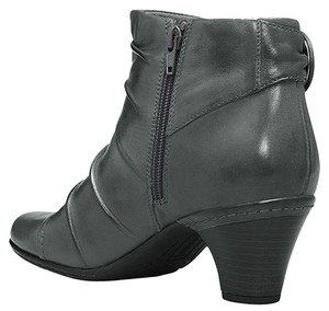 Cobb Hill New Black Leather Gray Boots