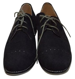 Cole Haan Gramercy Suede Oxford Black Flats