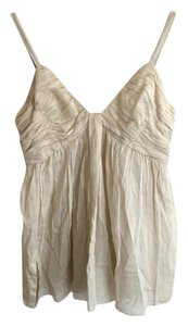 Prada Summer Designer Boho Italian Neutral Top Ivory