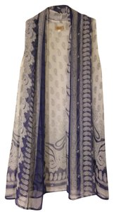 Piko 1988 Scarf Sheer Top White, Purple, Blue