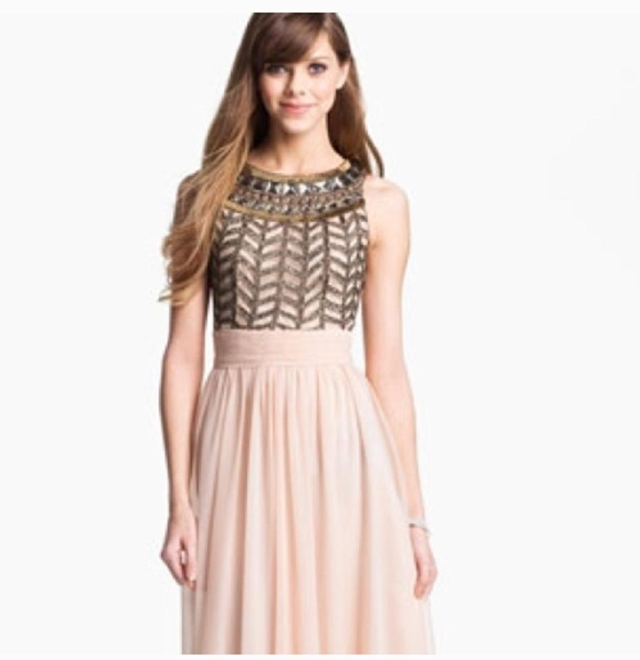 Nordstrom Blush Js Collection Embellished Chiffon Gown Long Formal ...