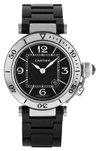 Cartier Cartier Pasha W3140003 Stainless Steel & Rubber Quartz Watch (12464)