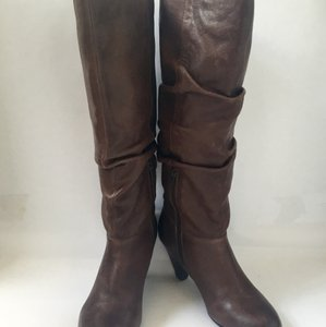 ALDO Leather Slouchy Midcalf Brown Boots