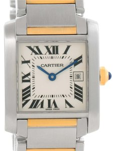 Cartier Cartier Tank Francaise Midsize Steel 18k Gold Ladies Watch W51012Q4
