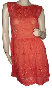 Anthropologie short dress orange on Tradesy