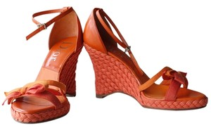 Dior orange Wedges