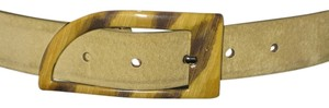 Streets Ahead Streets Ahead Boho Italian Leather Belt With Enameled Buckle - Style:20925