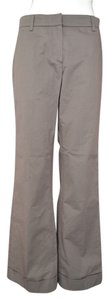 Rivamonti Italian Cotton Blend Wide Leg Pants Dark Taupe