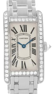 Cartier Cartier Tank Americaine 18K White Gold Diamond Watch WB7073L1