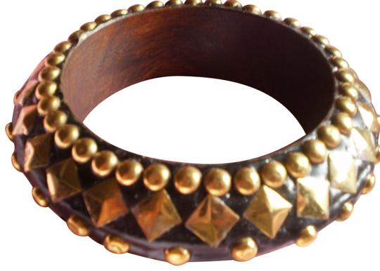 Preload https://item2.tradesy.com/images/body-central-black-wgold-studs-new-bracelet-136401-0-1.jpg?width=440&height=440