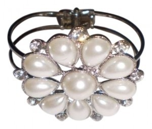 Body Central Faux Pearls & Diamonds Bracelet