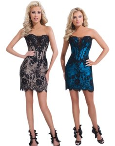Tony Bowls Lace Strapless Pageant Dress
