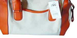 B. Makowsky Nwt Satchel in White and orange
