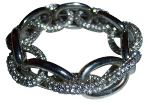 Other Natasha Accessories silver crystal chain link bracelet