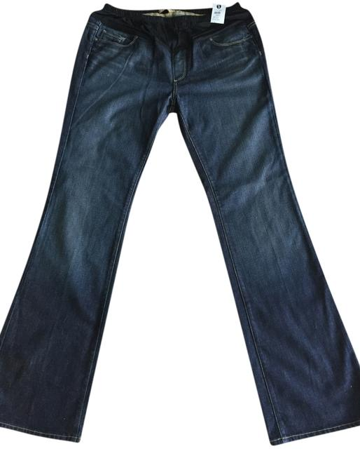 Item - Tuscan Wash Dark Rinse Benedict Canyon Maternity Flare Leg Jeans Size 34 (12, L)