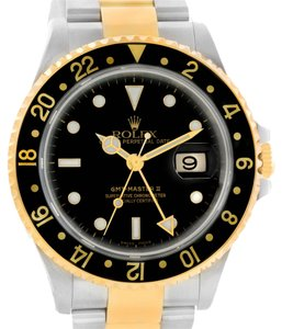 Rolex Rolex GMT Master II Mens 18k Yellow Gold Date Watch 16713