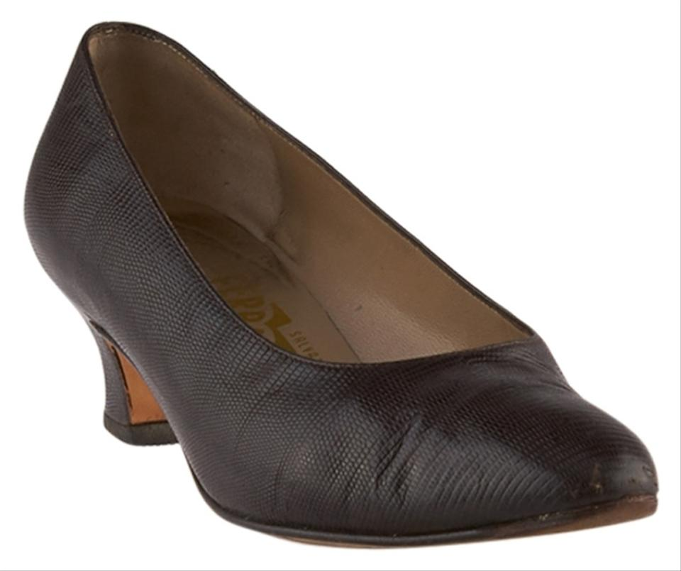 salvatore ferragamo lizard size 8 77805 brown pumps pumps on sale. Black Bedroom Furniture Sets. Home Design Ideas