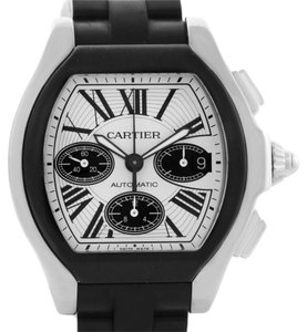 Cartier Cartier Roadster Chronograph Silver Dial Rubber Strap Watch W6206020