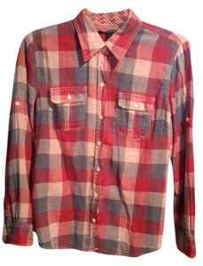 Lucky Brand Flannel Button Down Shirt Plaid
