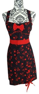 Hot Topic short dress Black Cherry print Pencil Halter Mini Retro on Tradesy