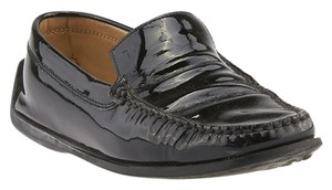 Tod's Patent Leather Loafers Black Flats