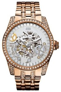 Guess Guess Male Dress Watch U0012G2 Rose Gold Analog