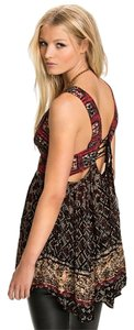 Free People Festival Boho Rocker Summer Top Mostly Reds