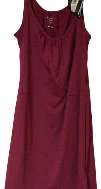 Item - Burgundy Sol Cool Above Knee Casual Maxi Dress Size 14 (L)