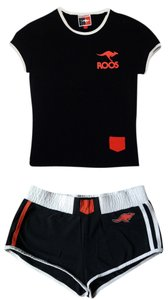 KangaROOS Black Work out gym clothing training top shorts set from KangaROOS Small