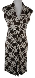 Trina Turk short dress Brown Chain Print Sleeveless on Tradesy
