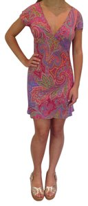 Etro short dress Fuchsia/Multi-color Milano Spring on Tradesy
