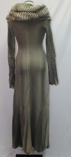 sea green tie-died Maxi Dress by Short Passion Funky