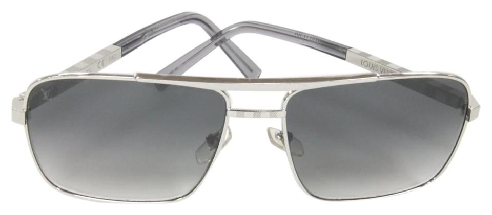 fd03aab862 Louis Vuitton Graphite Mens Sunglasses Infini Damier Attitude Aviator  Z0260u Formal Shoes