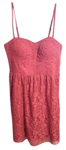 American Eagle Outfitters short dress Pink Mini Sweetheart Neckline Lace Spaghetti Straps on Tradesy