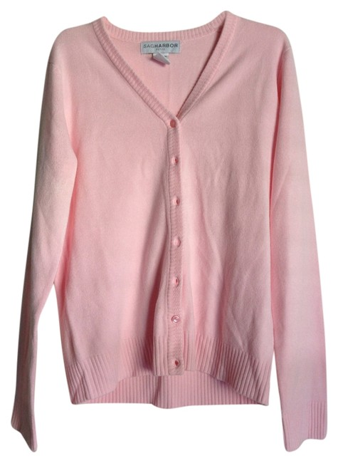 Preload https://item1.tradesy.com/images/sag-harbor-pink-cardigan-size-petite-6-s-1364410-0-0.jpg?width=400&height=650