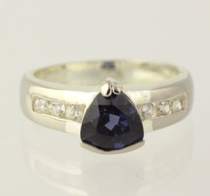Violet Glass Cz Cocktail Ring - 925 Sterling Silver Band Womens Fashion