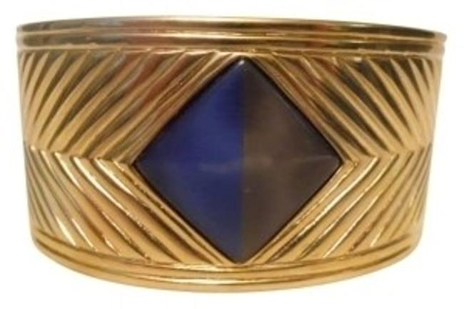 Gold Tone Hinged Bangle Bracelet Gold Tone Hinged Bangle Bracelet Image 1