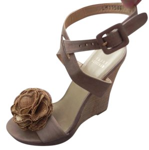 Stuart Weitzman nappa brown Wedges
