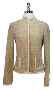 Elie Tahari Wool Beige/Tan Jacket