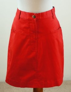 Brooks Brothers Cotton Blend Skirt Red