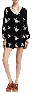 Free People short dress Black Combo Long Sleeve Embroidered on Tradesy