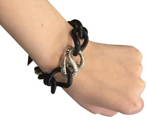 John Hardy Batu Naga sterling silver Dragon chain link bracelet with black resin