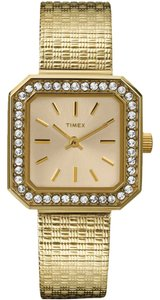 Timex Timex T2P550 Women's Classics Gold Analog Watch