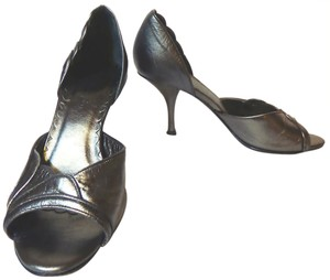 Banana Republic Metallic Pewter Pumps
