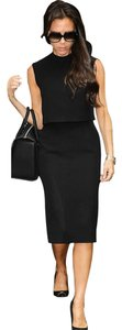 VfEmage Turtleneck Pinup Sleeveless Sheath Dress