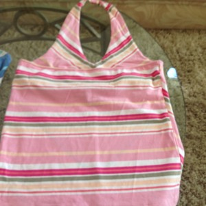 Caslon Striped Halter Top