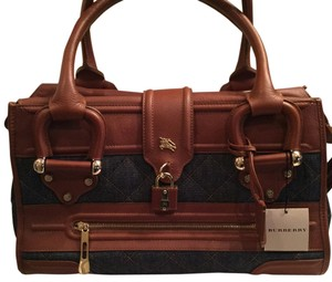 Burberry Satchel in Denim and Camel