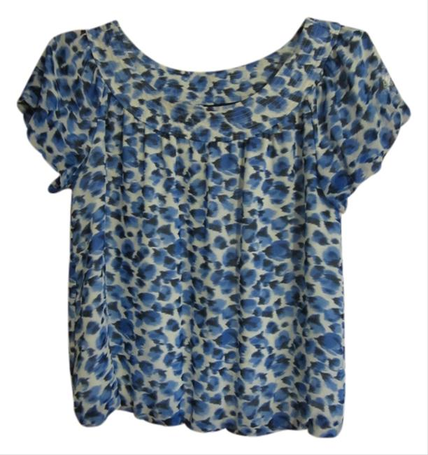 Banana Republic Blue Blouse Size 4 (S) Banana Republic Blue Blouse Size 4 (S) Image 1