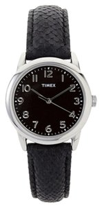 Timex Timex T2P080 Women's Python Patterned Silver Analog Watch